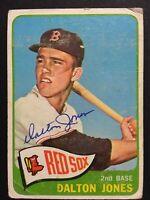 Dalton Jones Red Sox Signed 1965 Topps Baseball Card #178 Auto Autograph
