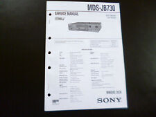 Original Service Manual Schaltplan Sony MDS-JB730