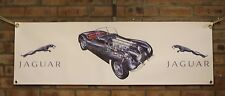jaguar xk120 roadster large pvc heavy duty WORK SHOP BANNER garage   SHOW