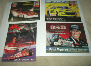 NHRA Racing Driver Postcards Lot of 29 different postcards some autographed
