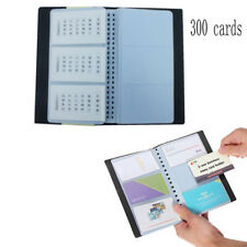 Leather Business Name ID Credit Card Holder Book Case Keeper Organizer 300 Cards