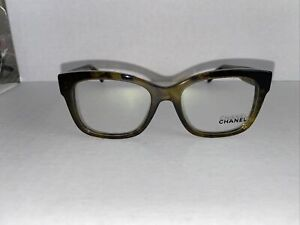 Chanel Eyeglasses 3347 1568 52/18 140 Without Case Olive Green