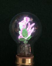 Vintage Aerolux Electric Flowers Bulb w/ Dove & Purple Flowers & Leaves 1930's