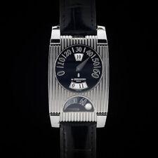 De GRISOGONO FG One Jump Hour GMT Retrograde Stainless Steel & Alligator Watch