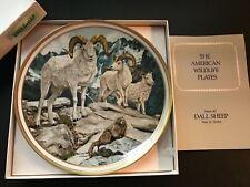 Nib Vintage Lenox American Wildlife Dall Sheep Collector Plate by Norman Adams