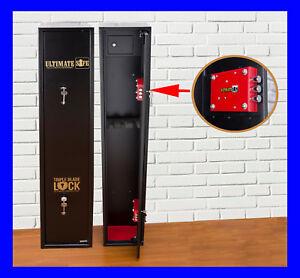 Ultimate Safe® 3 Shotgun Rifle Steel Gun Safe Cabinet With Ammo Box Police App.