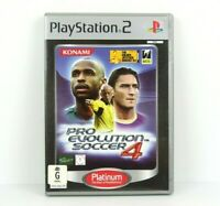 Pro Evolution Soccer PES 4 PS2 PlayStation 2 Platinum Game Complete PAL