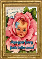 Esperamos que vuestra Fanny se siente mejor pronto ~ Doris & Betty Nuevo Bebé Tarjeta-pm-bb12