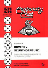 1978/79 Doncaster Rovers v Scunthorpe United, Division 4,  PERFECT CONDITION