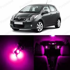 8 x Ultra Pink LED Interior Lights Package Kit For Toyota Yaris 2007 - 2011