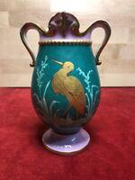 vase Ancien porcelaine de paris, Décor Cigogne Dorée XIXEME