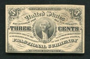 FR. 1226 3 THREE CENTS THIRD ISSUE FRACTIONAL CURRENCY NOTE UNCIRCULATED (B)