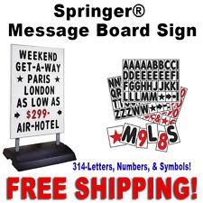 """24""""W x 36""""H Springer Message Board Sidewalk Sign  White"""