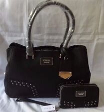 AUTHENTIC NWT GUESS WICKLOW STUDDED SATCHEL BAG PURSE WITH MATCHING WALLET