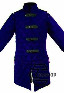 Best Item Medievel Gambeson Blue Color Custome Sca larps