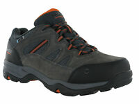 Hi-Tec Waterproof Bandera Charcoal Leather Lace Walking Hiking Mens Wide Trainer