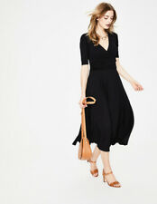 Neues Angebot BODEN Damen Stretch Kleid-Kassidy Jersey Midi Dress -Black -Tasche 8R 34 XS