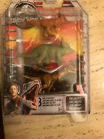 STIGGY TRICERATOPS T REX Jurassic World Mini Dinosaur Dino Figure 3 Pack Mattel