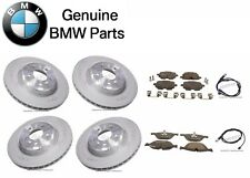 For BMW F01 F02 535i Set of 2 Rear+2 Front Brake Disc w/ Pads & Sensors Genuine