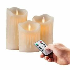 Pillar Led Candle Flickering Flameless Remote Controlled Timer Moving Dancing