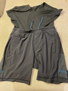 Men's Lululemon 2 In 1 Compression Shorts Black Running Shorts XL