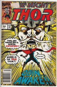Marvel 1992 THE MIGHTY THOR #449 Australian Price Variant AUS Comics Newsstand