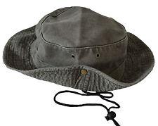 Mens Ladies Safari Outback Australian Style Cotton Bush Hat With Wide Brim.
