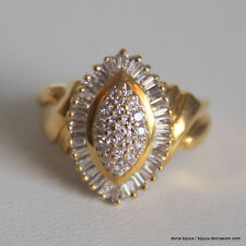Bague 30 Diamants Or Jaune 750/000 - Bijoux occasion