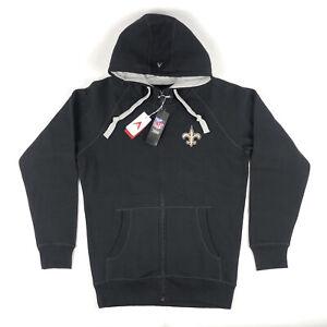 New Orleans Saints Antigua NFL Team Apparel Medium Full Zip Hoodie Sweatshirt