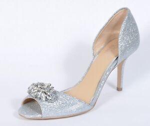 "Jewel by Badgley Mischka ""Hays"" Women Silver Evening Pump New 6.5M"