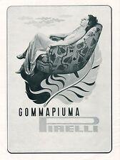 J0891 Gommapiuma PIRELLI - Donna sul divano - Pubblicità grande formato_1939 Ad