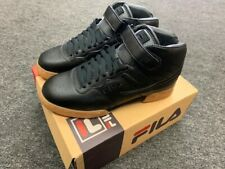 FILA  MENS f-13 SNEAKERS  BLACK/GUM BOTTOM