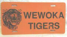 Vtg Wewoka Tigers Football Orange Plastic License Plate Wewoka Oklahoma School