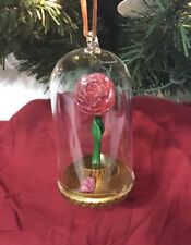 Disney Parks Beauty and the Beast Enchanted Rose Ornament Light-Up
