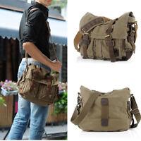 Hot Vintage Men's Canvas Messenger Shoulder Bag Military Crossbody Bags Satchel
