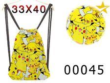 Mochila saco de tela Pokemon Pikachu collage