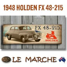 """HOLDEN GM """"1948 FX 48-215"""" Wooden Rustic Plaque / Sign (FREE POST)"""