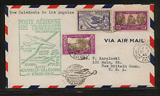 New  Caledonia 148, 174,C4    on  flight cover to  US   1940        KL0907
