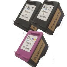 Printenviro Refill Ink cartridges for 2 Black & 1 Colour HP 65XL N9K04AN N9K03AN