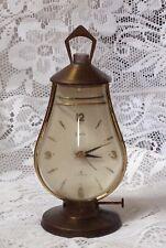 Swiza Switzerland Brass Lantern Shape 8 Day Alarm Clock, C1950s, Working