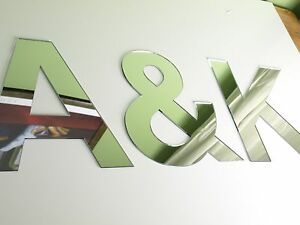 Acrylic mirror letters