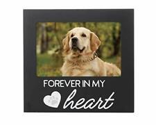 Pearhead Pet Forever In My Heart Memorial Keepsake Picture Frame Black
