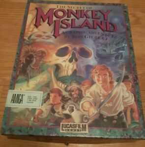 Amiga Game - Secret of Monkey Island - Boxed Disks Wheel 100% Complete Original