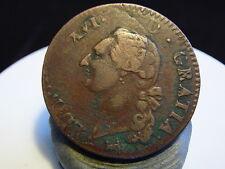 3CL(116) - LOUIS XVI - SOL D'ECU - 1791 B - DOUBLE FRAPPE DE QUALITE !!! RRR !