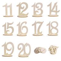 Holz Tischnummer Tischaufsteller Aufsteller Hochzeit Ständer  Geburtstagnummer
