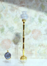 Dollhouse Miniature Battery Operated Floor Lamp with Brass Finish