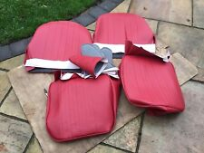 AUSTIN HEALEY FROGEYE SPRITE SEAT COVERS inc hinge pockets , bugeye Red/Red