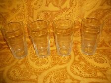 """Lot of 4 Clear Bar Glasses Tumblers by Libby, 6""""H, 16oz"""