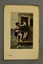 R&L Postcard: Milton Woolstone Bros Woman in Bathing Suits, Changing Machines