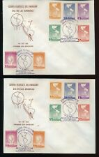 PARAGUAY 1962 Americas FDC Covers x 5 (PY21)